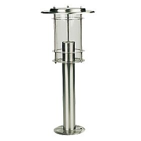 Post Top Light 210 x 500mm Stainless Steel 60 W