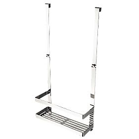 Aqualux Haceka Selection Shower Basket Pol. Silver Effect 254 x 103 x 522mm