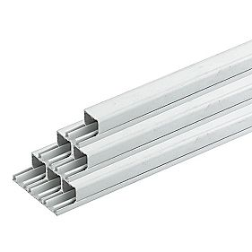 Tower Mini Trunking 16mm x 16mm x 3m (90m) Pack of 30