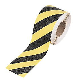 No Nonsense Anti-Slip Tape Black / Yellow 100mm x 18m