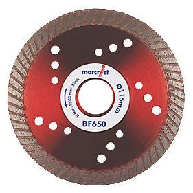 Marcrist BF650 Precision Universal Turbo Diamond Blade 115 x 22.23mm