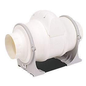 Xpelair XIM100+ 25W In-Line Bathroom Extractor Fan