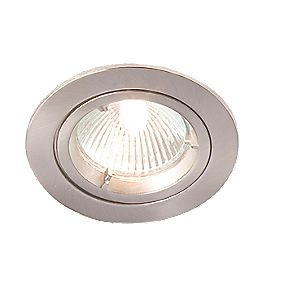 Robus Fixed Round Low Voltage Downlight Brushed Chrome 12V Pack of 10
