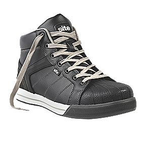 Site Shale Hi-Top Safety Trainer Boots Black Size 10