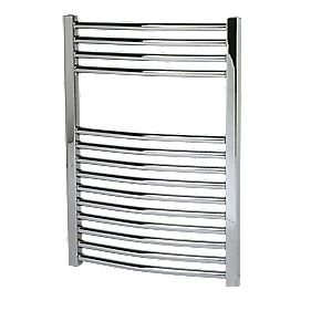 Kudox Curved Towel Radiator Chrome 700 x 500mm 219W 747Btu