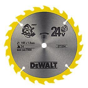 DeWalt 165x10mm 24T TCT Circular Saw Blade