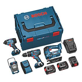 Bosch 18V 3Ah Li-Ion Cordless 4-Piece Kit