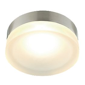 Aria 33811 Aria Ceiling Light Brushed Chrome & Frosted Glass 40W