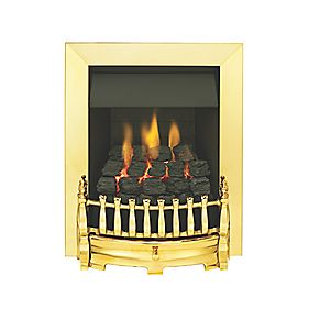Valor Blenheim Brass Rotary Control Gas Inset Fire