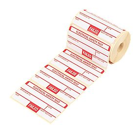 Kewtech Fail Labels Pack of 250