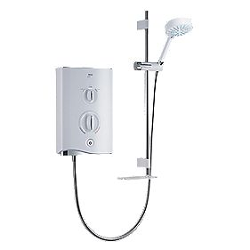 Mira Sport Thermostatic Electric Shower White & Chrome 9kW