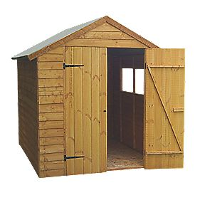 Forest Larchlap Overlap Apex Shed 8 x 6 x 7' (Nominal)