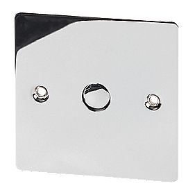 Volex 1-Gang 1-Way 500W Touch Dimmer Pol Chrome Flt Plt