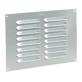 Map Vent Fixed Louvre Vent Silver 152 x 229mm