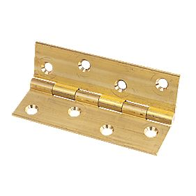 Solid Drawn Brass Hinge Self Colour 102 x 60mm Pack of 10