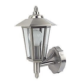Coach 60W Stainless Steel Lantern Wall Light