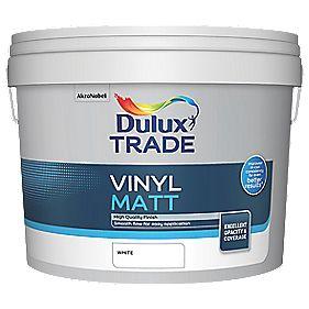 Dulux Trade Vinyl Matt Emulsion Paint White 10Ltr