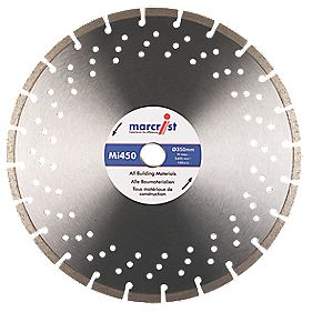 Marcrist MI450 Segmented Universal Diamond Blade 350 x 25.4mm