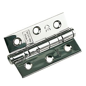 Eclipse Ball Bearing Hinge Polished Stainless Steel 76 x 51mm Pack of 2
