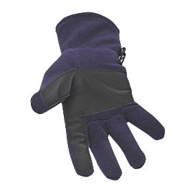 Non Safety Fleece Gloves Purple/Black One Size Fits All