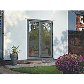 Spaceslide Bi-Fold Double-Glazed Patio Door LH Grey 1794 x 2094mm