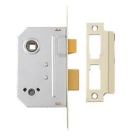 "Yale Bathroom Mortice Lock Polished Brass 2½"" (76mm)"