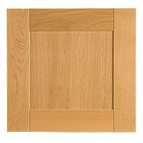 Golden Oak Shaker Kitchen Single Semi-Integrated Appliance Door