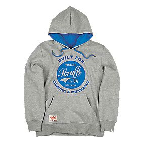 "Scruffs Vintage Graphic Hoodie Grey Marl Medium 44"" Chest"