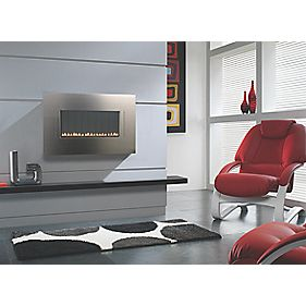 Focal Point Cascara Flueless Stainless Steel Wall Hung Gas Fire 2.6kW