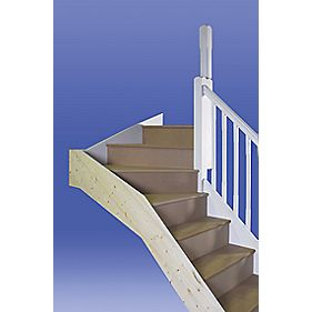 Stairways Chamfered Top Winder Staircase LH Primed