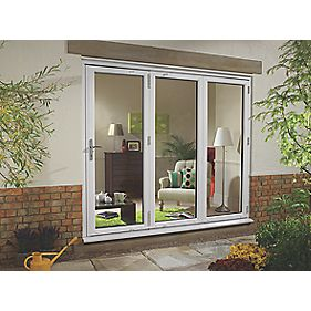 uPVC Fold & Slide Double-Glazed Patio Door RH White 2390 x 2090mm