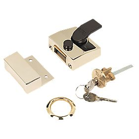 Yale Narrow Night Latch Brass 40mm Backset
