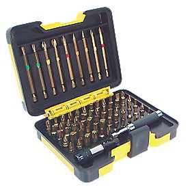 TurboGold Professional Screwdriver Bits Set Metal Case 71Pcs