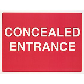 """Concealed Entrance"" Sign 450 x 600mm"