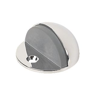 Low Rise Oval Door Stop Polished Chrome