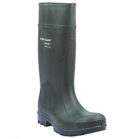 Dunlop Purofort Pro C462933 Safety Wellington Boots Green Size 4