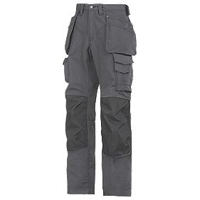 "Snickers Rip-Stop Pro-Kevlar Floorlayer Trousers Grey/Black 31"" W 32"" L"