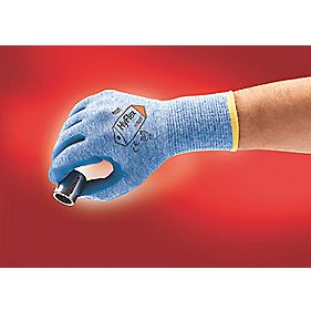 Ansell Hylex 11-920 Nitrile-Coated Gloves Blue Large