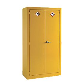 Hazardous Substance Cabinet Yellow 915 x 457 x 1830mm