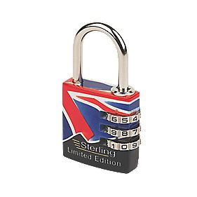 Sterling Combination Padlock 27.5mm