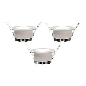 LAP Fixed Downlight Integrated LED 160Lm White 2W 240V Pack of 3