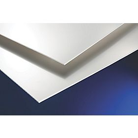 Corotrim PVC Cladding Sheets White 1220 x 3 x 2400mm Pack of 5