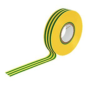 Insulating Tape Green/Yellow 19mm x 33m
