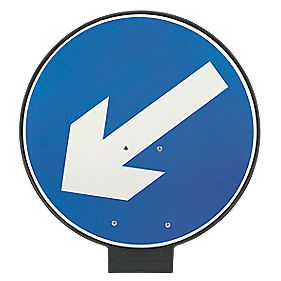 JSP Portacone Arrow Left Cone Sign 850mm