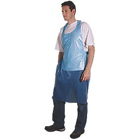 Cater Safe Disposable Aprons Blue Pack of 100