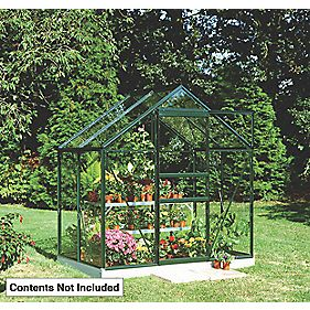 Halls Popular Greenhouse Green Toughened Glass 6 x 4 x