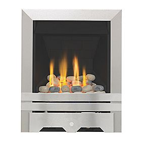 Focal Point Lulworth Contemporary Gas Fire Brushed Steel Effect 6.8kW