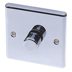 LAP 1-Gang 2-Way Push Dimmer Switch 400W/400VA Polished Chrome