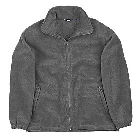 "Site Oak Full-Zip Fleece Grey Large 42-44"" Chest"