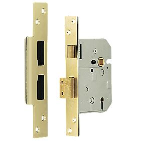 "Chubb 5-Lever BS 3621: 2007 Mortice Sashlock Brass 3¼"" (80mm)"